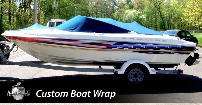 AppleGraphicscom Philadelphia Bucks County Custom Vehicle - Boat decalsamerican flag boat decals usa flag boat graphics xtreme digital