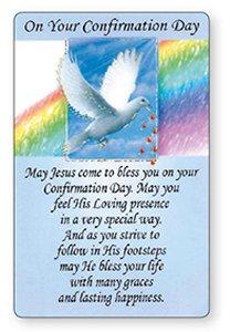 Dove Confirmation prayer card.