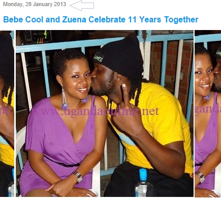 In 2013, Bebe Cool and Zuena were celebrating 11 years