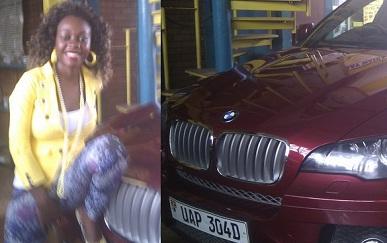 Bad Black next to her BMW X6