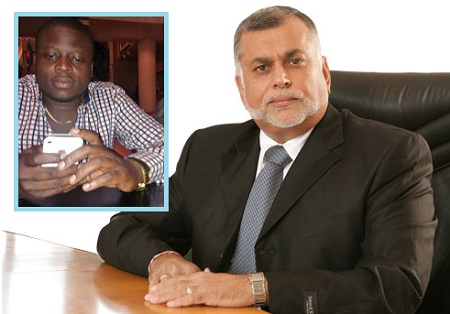 Sudhir Ruparelia is East Africa's Richest and inset is Ivan who made a loss of $34,000 through gambling
