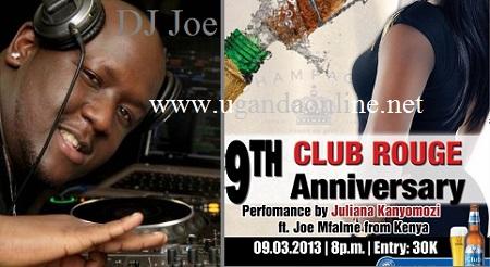 DJ Joe Mflame and Juliana to rock Club Rouge this Saturday