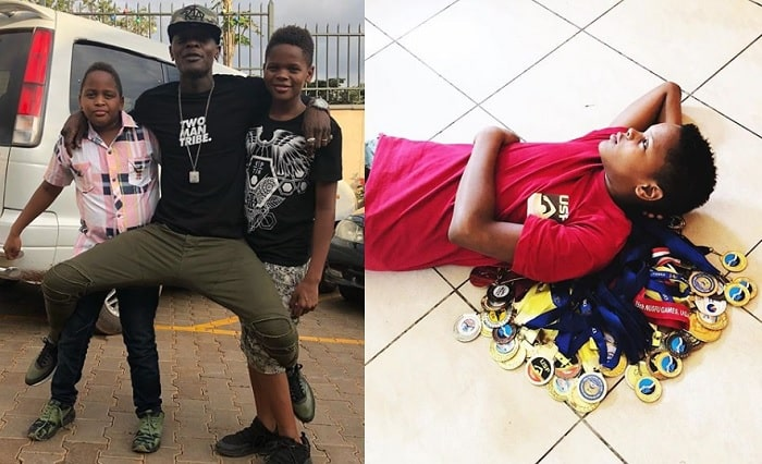 Chameleone with his sons Alpha and Abba