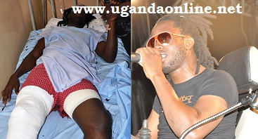 Bebe Cool affter being shot and on a wheel chair performing