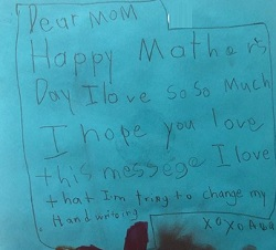 Chameleone's son's message to mom on Mothers Day