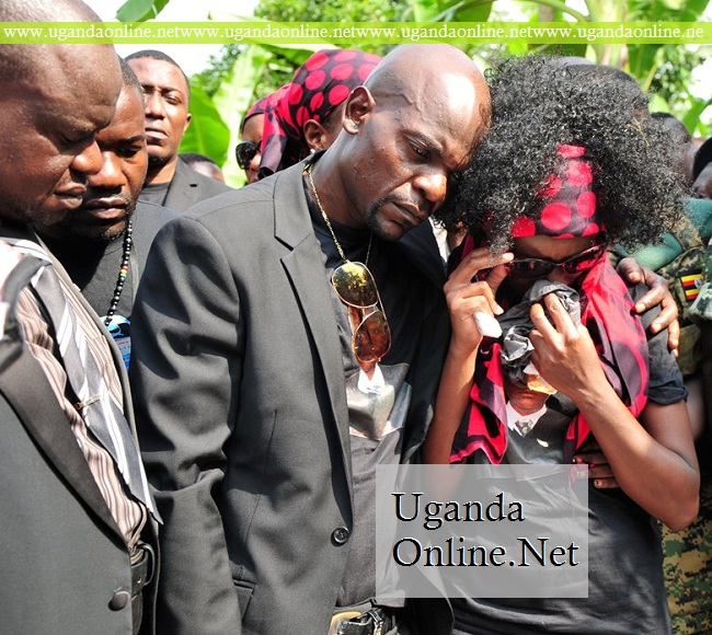Juliana and Amon during their son's funeral