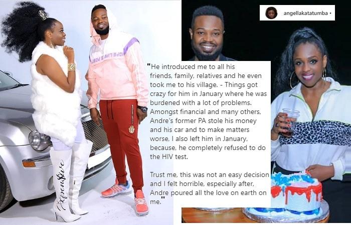 Angella Katatumba reveals why she dumped producer Daddy Andre