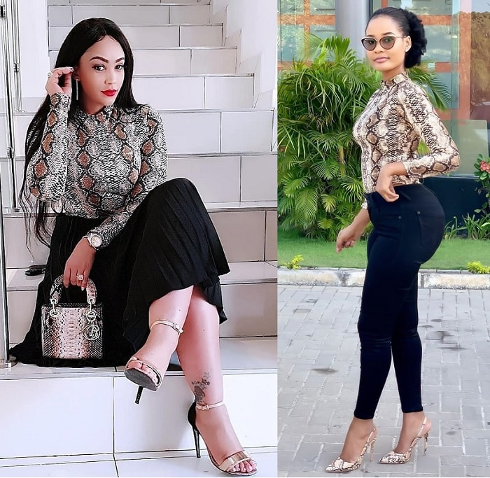 Leggy  Zari as Hamisa shows off her hind curves