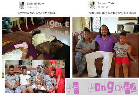 Iryn Namubiru and Navio pay the Zari's a visit
