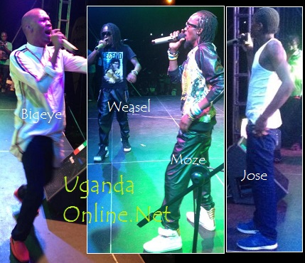 Some of the artistes who performed at Bobi Wine's Size Yo Launch
