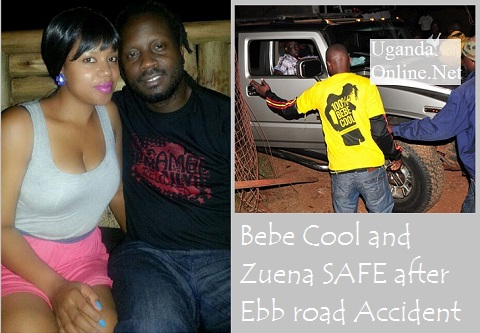 Zuena and Bebe Cool survive accident
