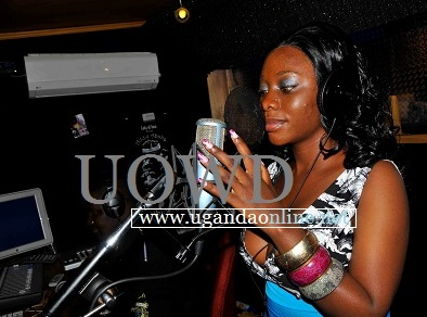 Bad Black recording her first song - Nkyamuka