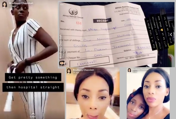 Bad Black shared pics of her and Pretty Glo as they were heading to hospital