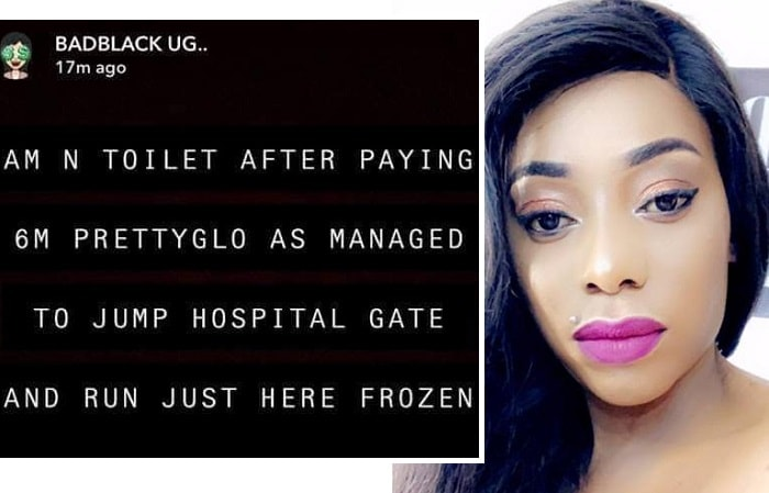 Bad Black shocked after Pretty Glo vaished from a rehab centre
