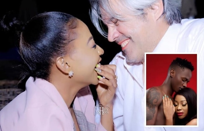 Bad Black and her Caucasian lover whom she got engaged to and inset is her current lover, Sky West