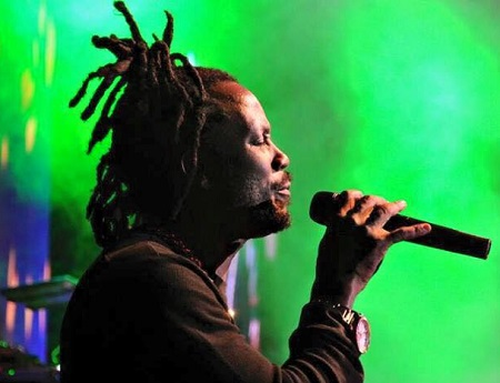 Bebe Cool performing at the listeners party