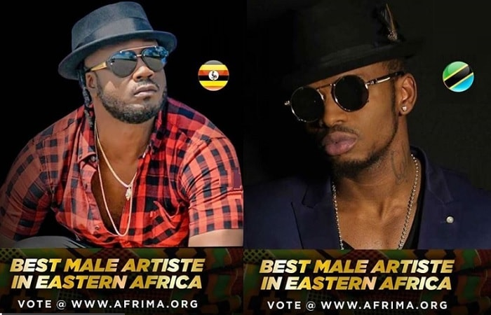 Bebe Cool and Diamond Platnumz are nominees in the AFRIMA awards for the Best Male Artiste