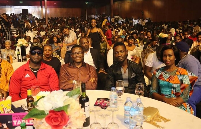 Bebe Cool, Charles Peter Mayiga, Bobi Wine and his wife Barbie Kyagulanyi