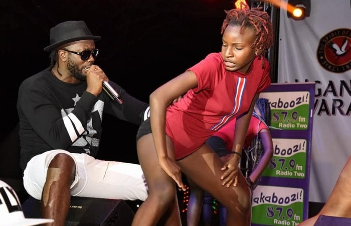 Bebe Cool performing during the enad of year bash