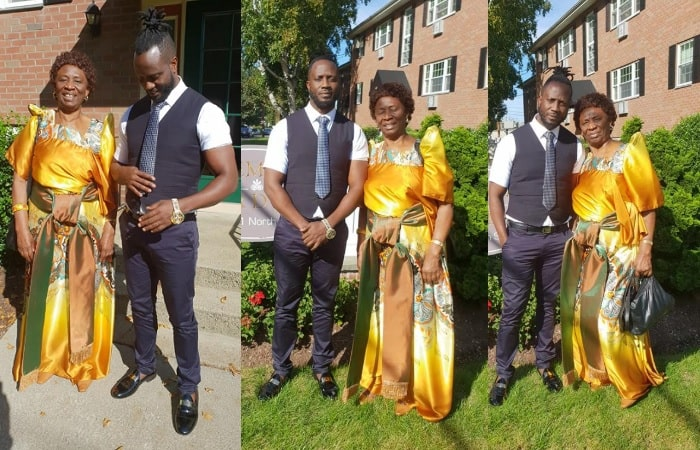 Bebe Cool and his mom in Boston, USA