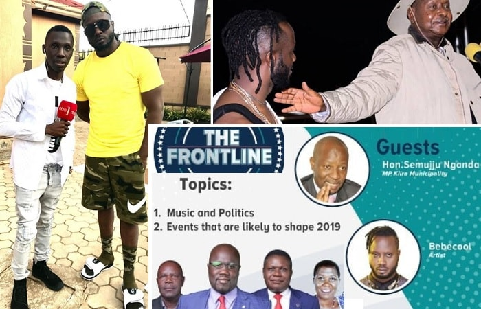 Bebe Cool is a guest speaker for tonight's Frontline TV show
