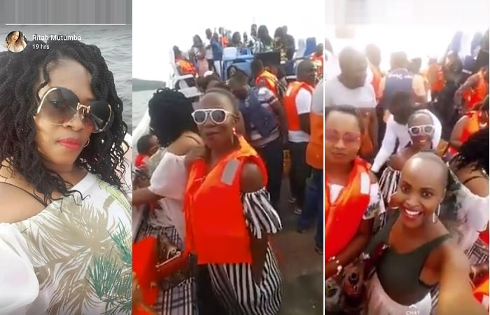 Some of the slay queens who were on the boat cruise that capsized