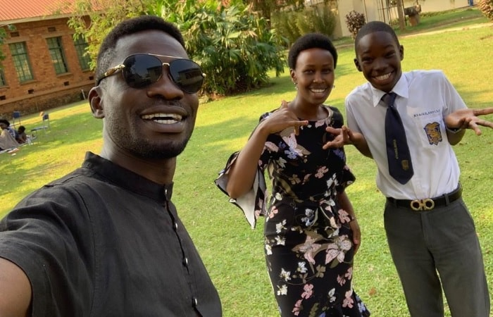 Bobi Wine, Barbie and their son, Kampala Solomon