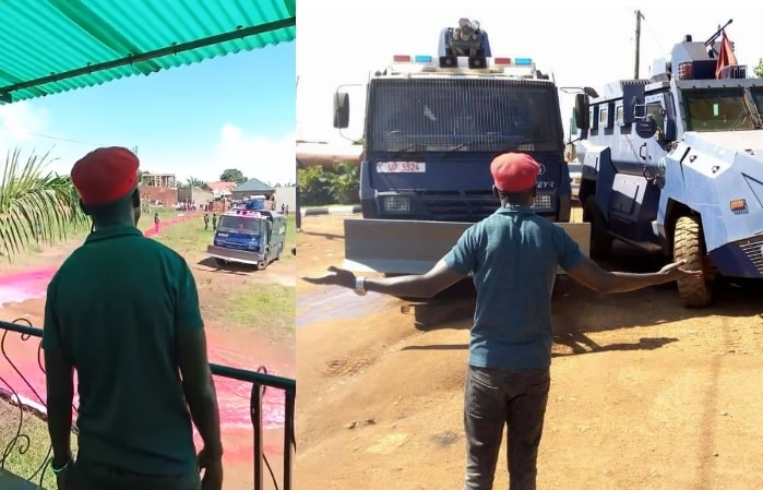 Bobi Wine facing off with police at his One Love Beach