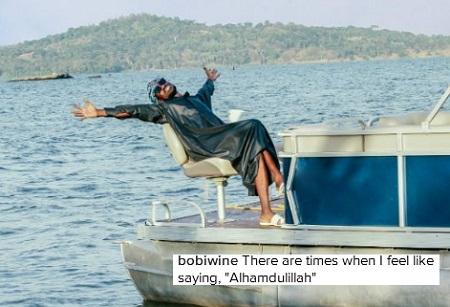 Bobi Wine's posture says it all