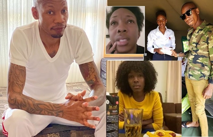 Bryan White and his accuser Stella Nandawula