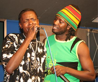 Jose and Bebe Cool at Club Silk during the Chameleone Unplugged Show on Thursday