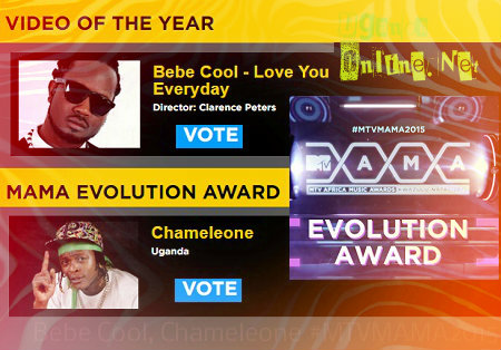 Chameleone and Bebe Cool nominated in the MTV Music Awards 2015