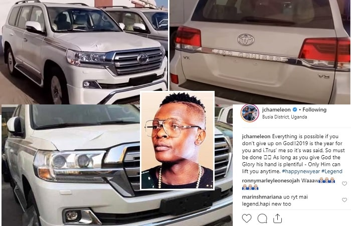 Chameleone adds a white Land Cruiser V8 to his fleet