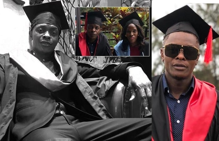 Chameleone was celebrating with Kyambogo students that had graduated