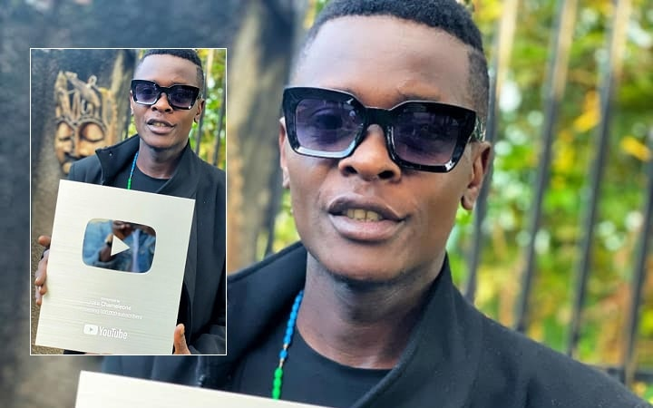 Chameleone shows off his YouTube award
