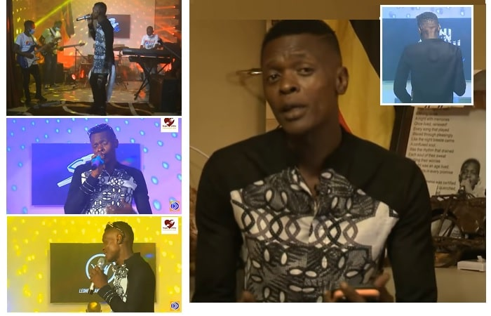 Chameleone performing for his fans right from his living room