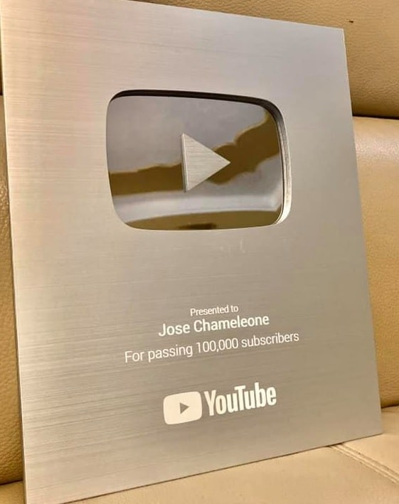 Chameleone's YouTube Play button