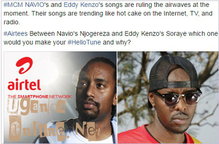 Navio and Kenzo became Airtel's MCM after Chameleone complaining
