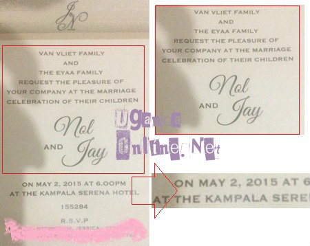 On tghe invitation card, Jackie was Jay