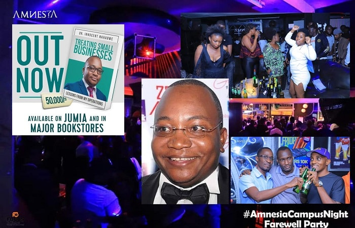 Club Amnesia closes. Inset is the owner Dr. Innocent Nahabwe