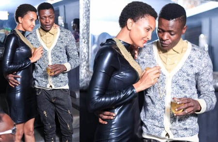 Daniella and Chameleone posing for shots
