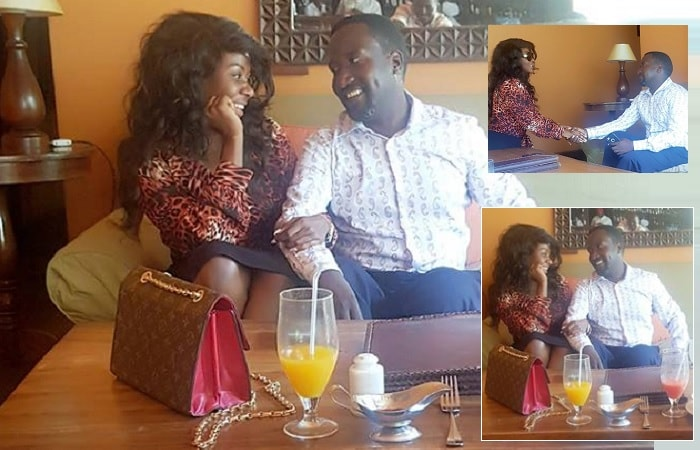 Desire Luzinda and John Kaddu dining together