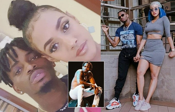 Diamond Platnumz and Tanasha Donna during the happy times