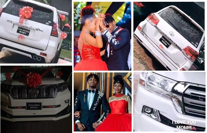 Diamond Platnumz gifts his mom and lover with posh rides