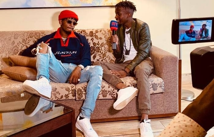 Diamond Platnumz during the interview at Mestil Hotel