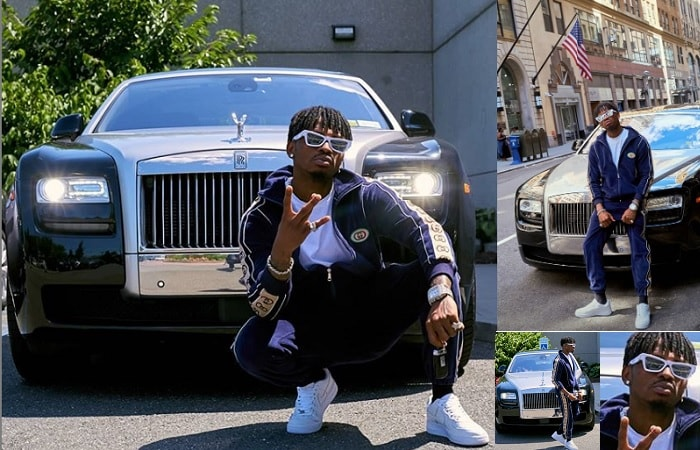 Diamond Platnumz was being cruised in his dream car while in the US