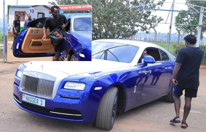 Don Nasser's Rolls Royce at the airport