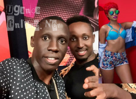 Douglas Lwanga and Choasen Blood-Inset is Sheebah Karungi