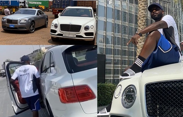Cheune ships in a Bentley and a Rolls Royce from Dubai