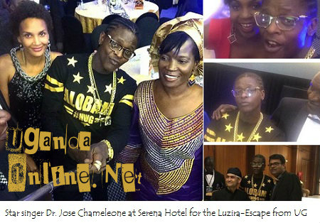 Star singer Dr. Jose Chameleone at Serena Hotel for the movie premiere - Escape